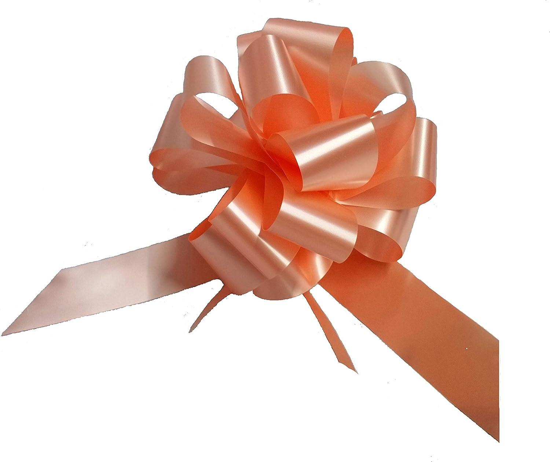 50 lazos autotiranti Maxi boda coche casa boda bautizo graduación Comunión lazo Diam. 19 cm Svelto Strip Salmón: Amazon.es: Hogar