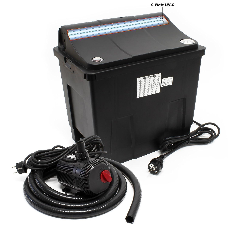Filtre biologique CBF-200T Système de filtration complet, UV+ Pompe SunSun