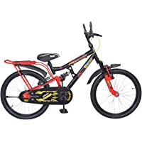 Atlas Cadet IBC Boy's Girl's Steel Single Speed Dual Suspension Bike (Red and Black, 7-9 Years)