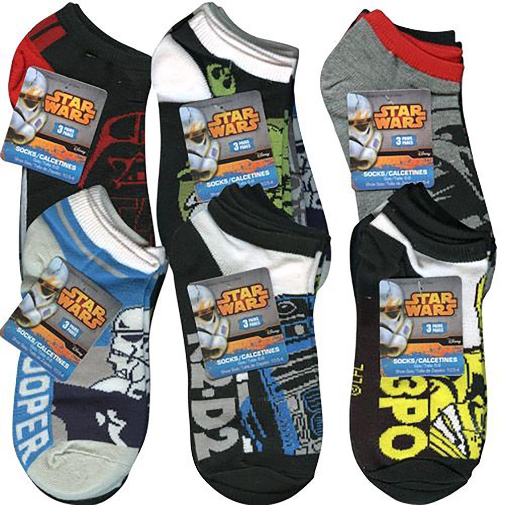 Amazon.com : Star Wars Anklet Socks [3 Pack - Size 6-8] - Assorted : Sports & Outdoors