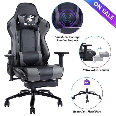 Amazon.com: Blue Whale - Silla de ordenador para videojuegos ...