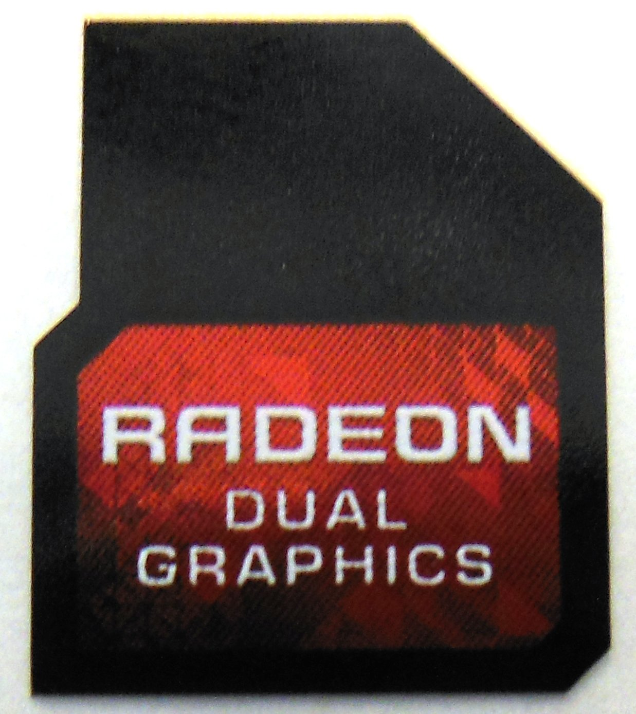 Original AMD Radeon Dual Graphics Sticker 13 x 17mm [777]