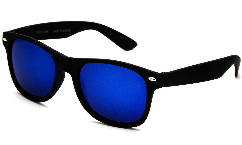 Kyra 80's Retro Wayfarer Kids Fashion Rubber Soft Touch Finish Sunglasses KP2018-RBK-BK