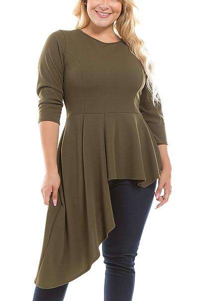 Bubble B Women\'s Junior Plus Size Dressy Tunic Top