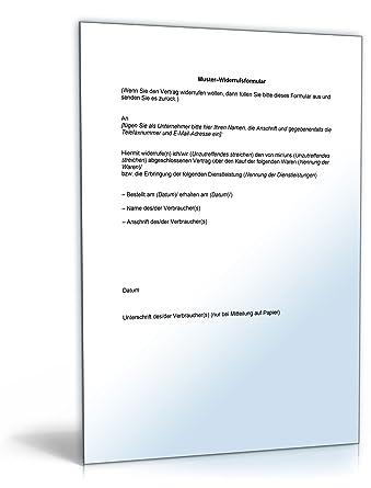 Widerrufsformular Online-Shop [Word Dokument]: Amazon.de: Software