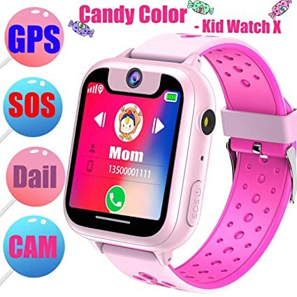 Amazon.com: T16 Smart Watch Phone for Kids GPS Tracker,IP67 ...