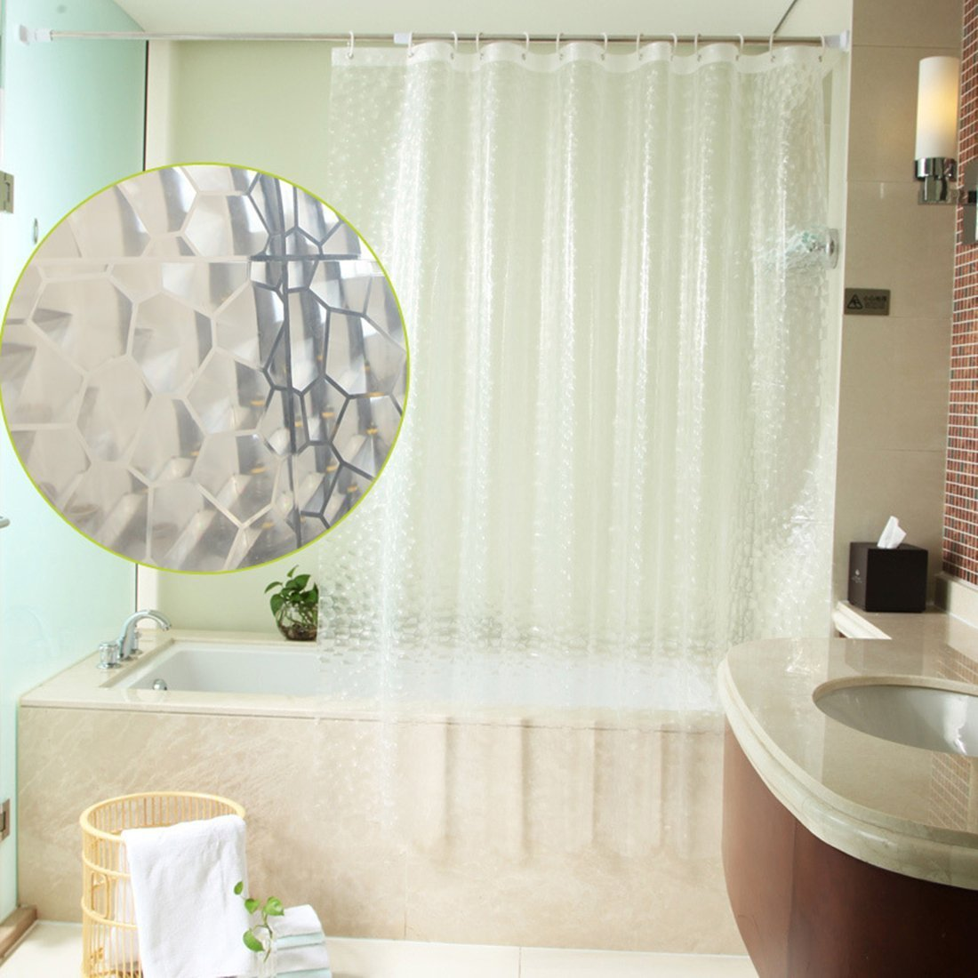 Clear fish shower curtain - Cl Clear Fish Shower Curtain Amazon Com S Zone 72 Inch By 36 Inch 3d