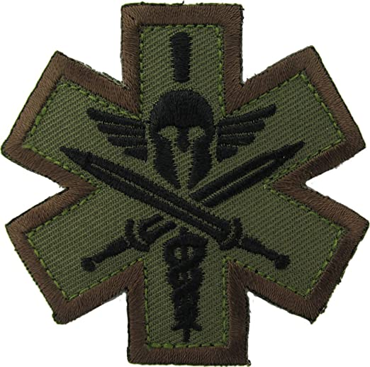 Mil-Spec Monkey Embroidered Tactical Spartan Medic Morale Patch Multicam