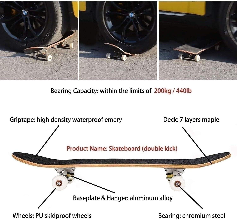 # D15 LaoSong 31 Pouces compl/ète Double Kick Board Concave Skateboard Sailor Moon Girl Series Half Moon Cruiser Planches /à roulettes