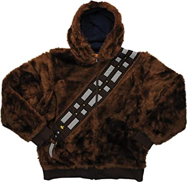 Amazoncom Star Wars Chewbacca Han Solo Reversible Hoodie Clothing - Hoodie will turn you into chewbacca from star wars