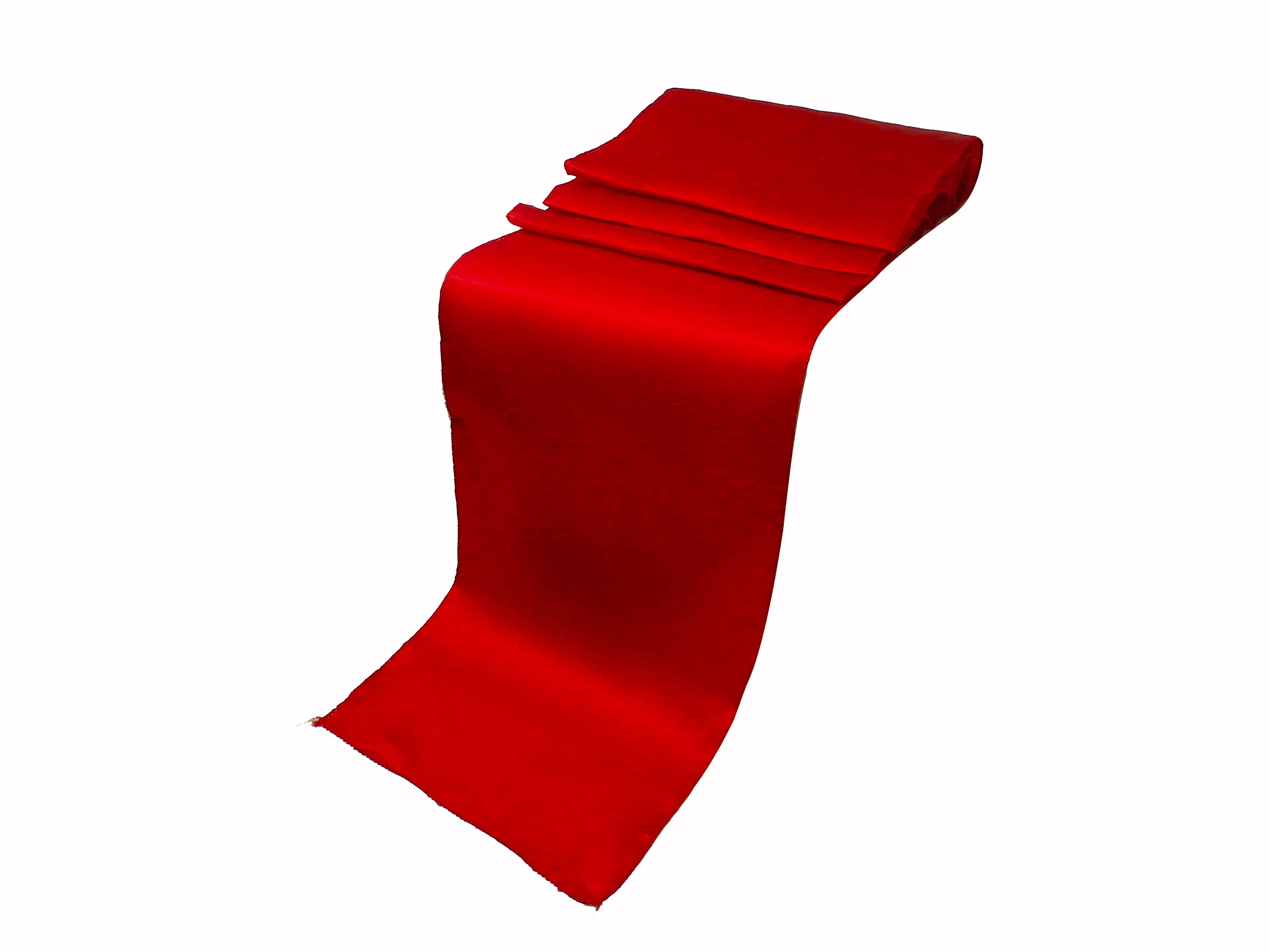 Elina Home 12-Inch-by-108-Inch Satin Table Cloth, (Pack of 10) - Red