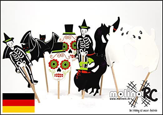 Hallo Halloween Decoraties : Molinorc halloween zahnstocher grusel party cocktailfähnchen
