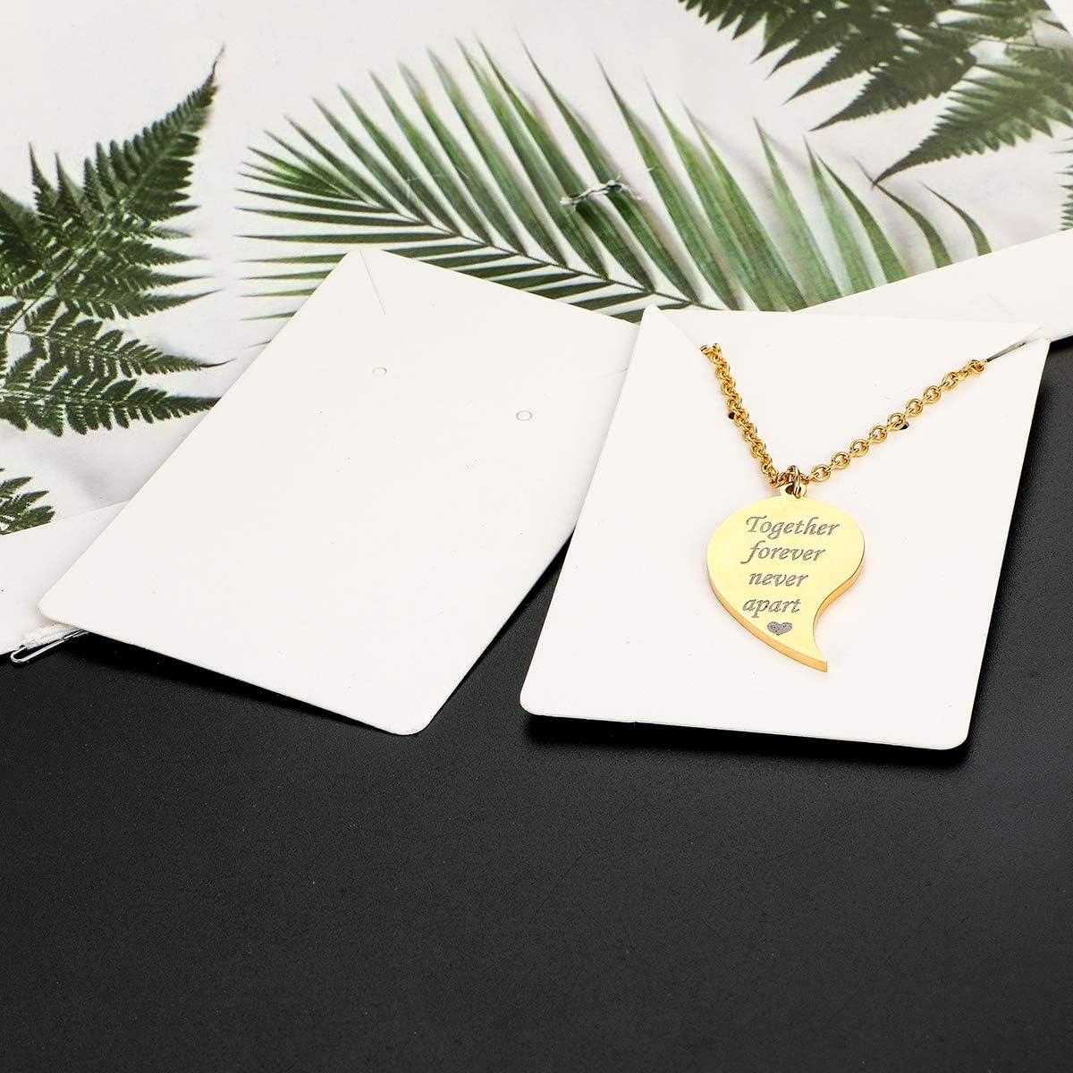 Set Litthing Cartes dAffichage Boucle doreille 100PCS 8.9 x 5.8 cm avec 200 Pcs Sacs Auto-Scell/és Cartes de Pr/ésentation pour Bijoux et Colliers /Étiquettes en Papier Kraft pour DIY