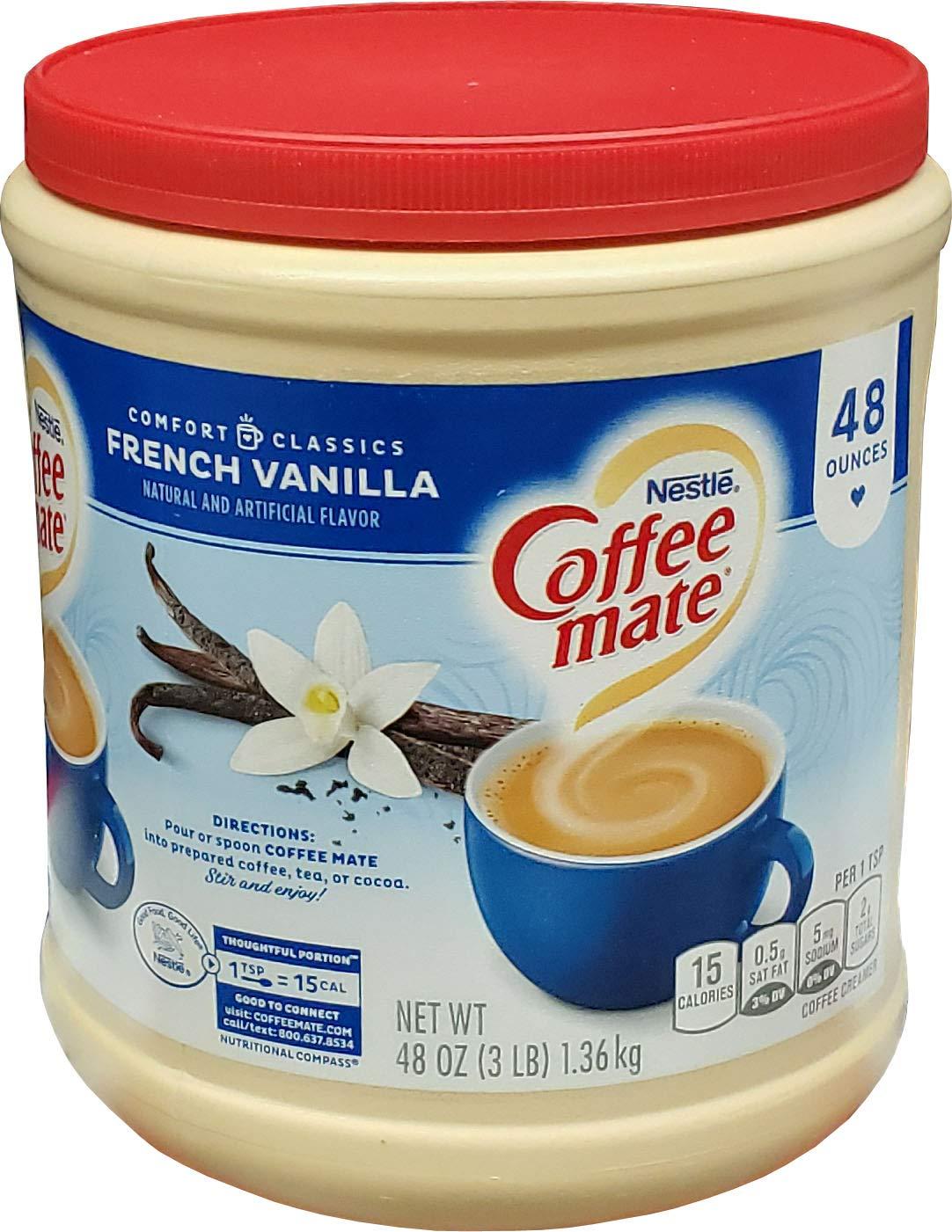 Coffee Mate French Vanilla Creamer (48 OZ), French Vanilla, 48 oz