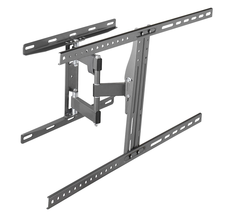 Vivanco WM 3220 - Soporte flexible de pared para diagonal de pantalla (VESA 200 x 200, 20 kg, inclinable 10º, giratorio 90º), color negro: Amazon.es: ...