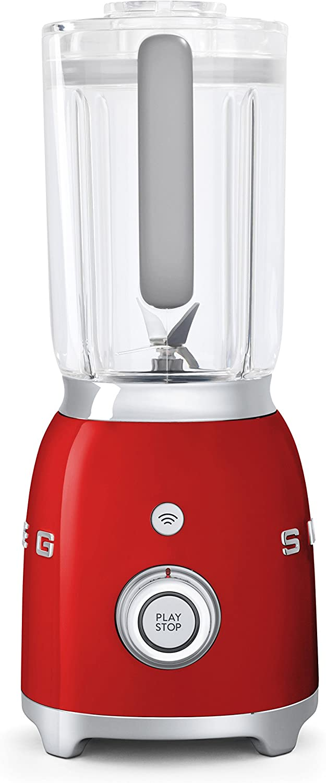SMEG Batidora BLF01RDEU, 800 W, 0.45 litros, Metal, plástico, 4 ...