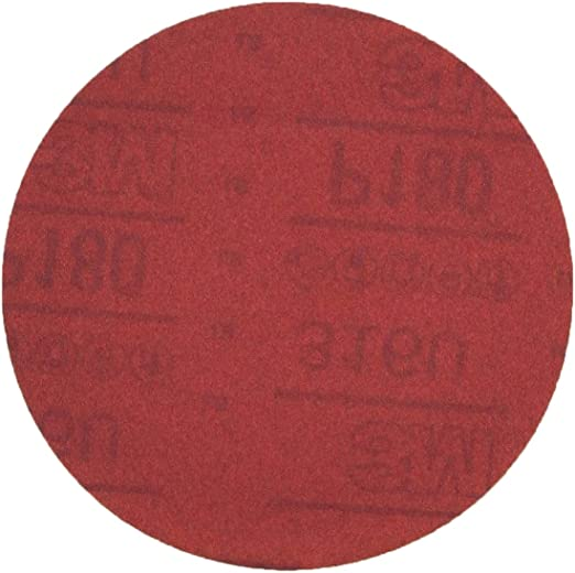 3M 01254 Stikit Red 6 P180 Grit Abrasive Disc Value Pack