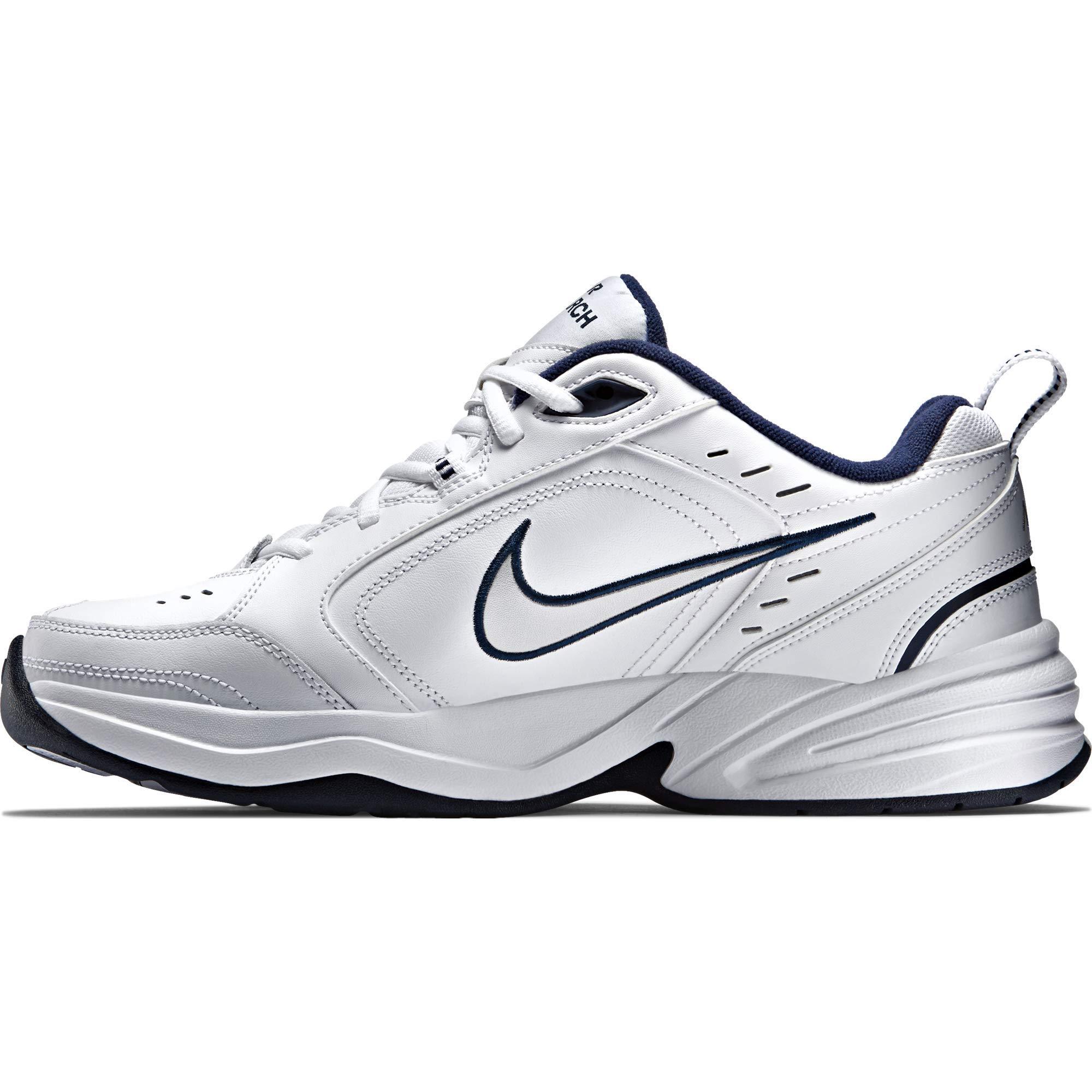 NIKE AIR MONARCH IV (MENS) - 6.5 White/Metallic Silver by Nike (Image #7)