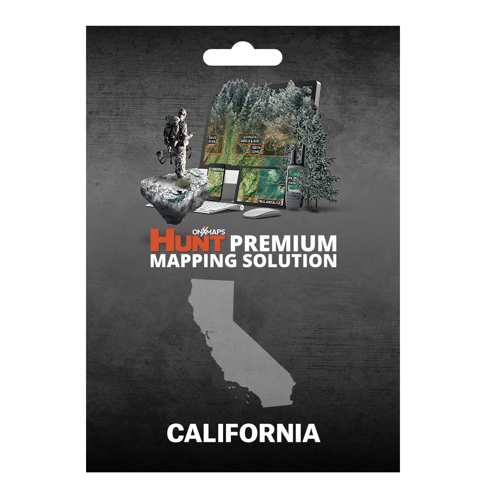 onXmaps HUNT California: Digital Hunting Map For Garmin GPS + Premium Membership For Smartphone and Computer - Color Coded Land Ownership - 24k Topo - Hunting Specific Data