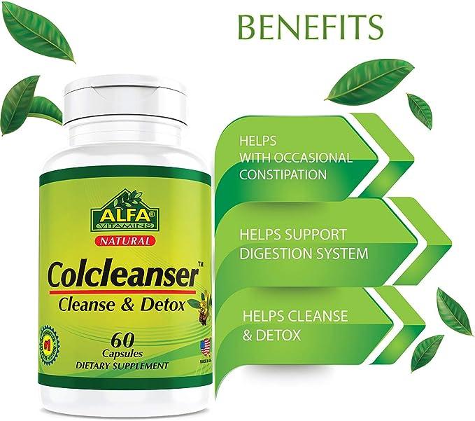 Amazon.com: colcleanser 60 Cápsulas. Ayuda a Colon Cleanse ...