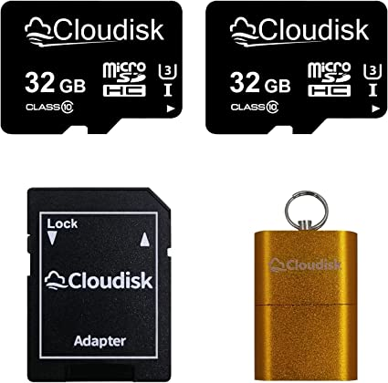 Cloudisk 2 Pack Micro Sd Card With Microsd Adapter Computers Accessories
