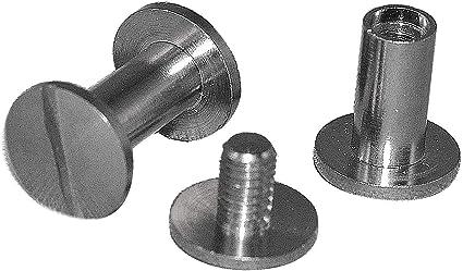 Tornillos para encuadernación de níquel 2mm / Pack of 100: Amazon.es: Oficina y papelería