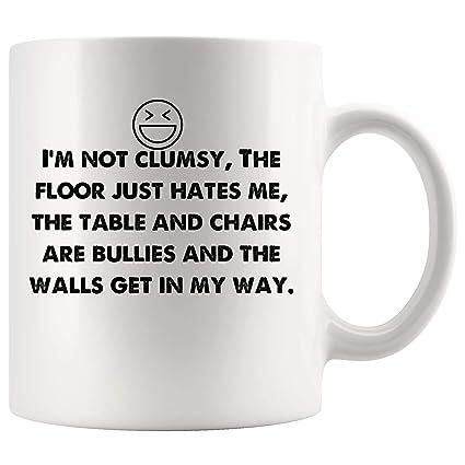 Amazon com: I'm not clumsy  Funny Mugs - Joke Coffee Mug Gag