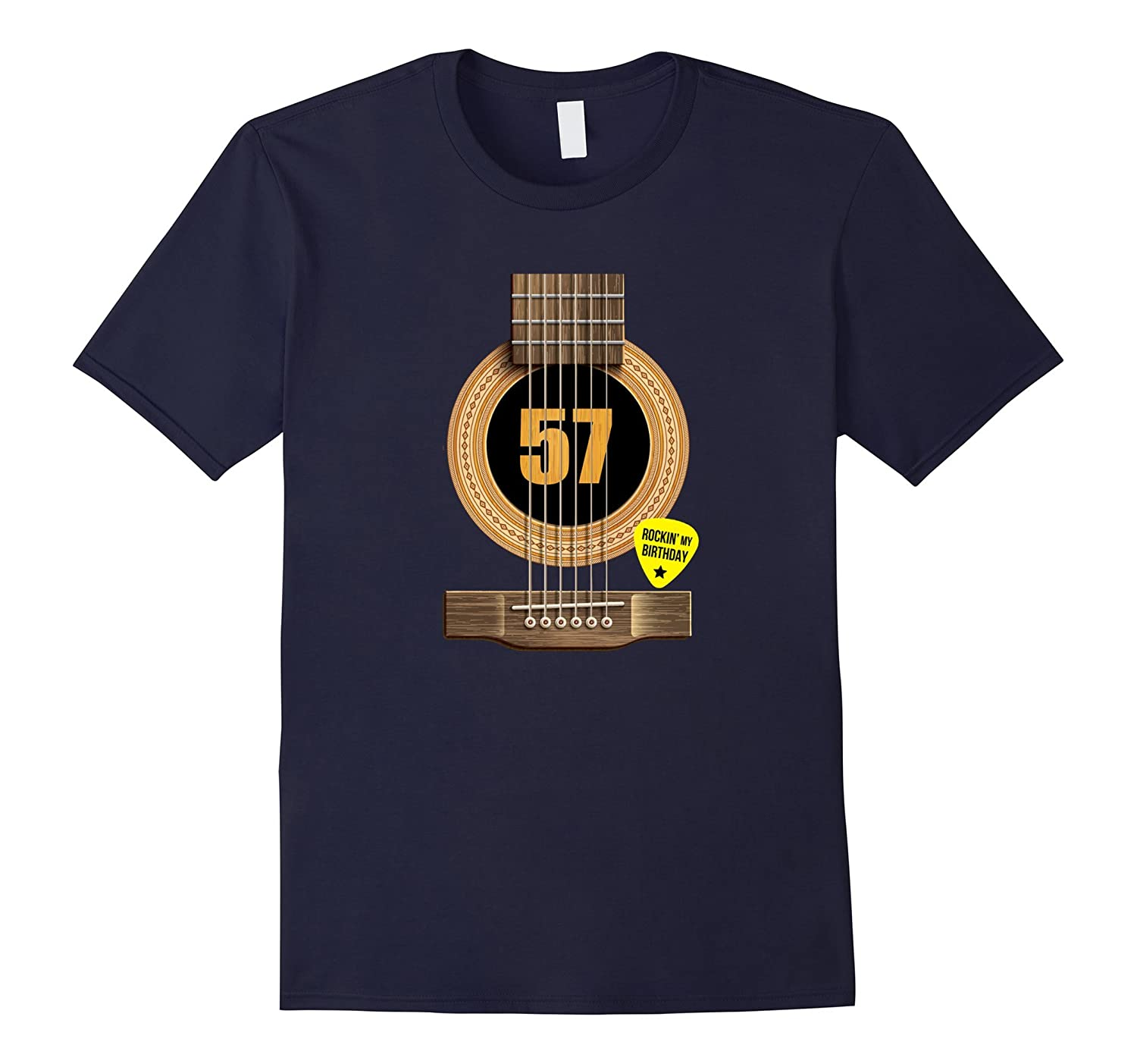 57th Birthday Shirt Rockin my day Best Gift for Guitar Lover-TH