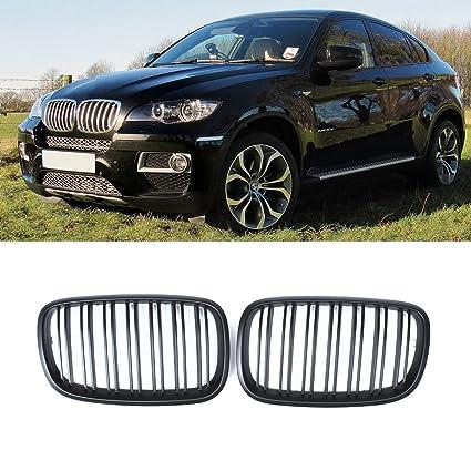 Glossy Black M-Color Front Grille For 2007-13 BMW X5 X5M E70 X6 X6M E71 X6 E72