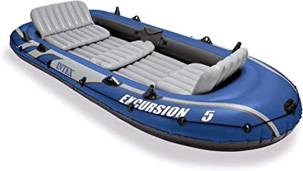 Amazon.com: Set de barco inflable de Intex para excursiones ...