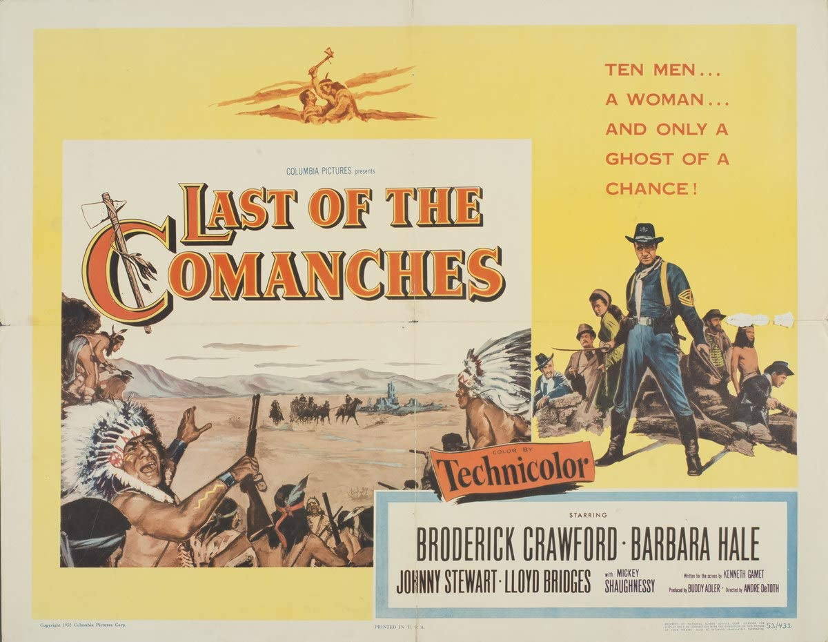 Berkin Arts Movie Poster Giclee Print On Canvas-Film Poster Reproduction Wall Decor(Last of The Comanches 2) #XFB