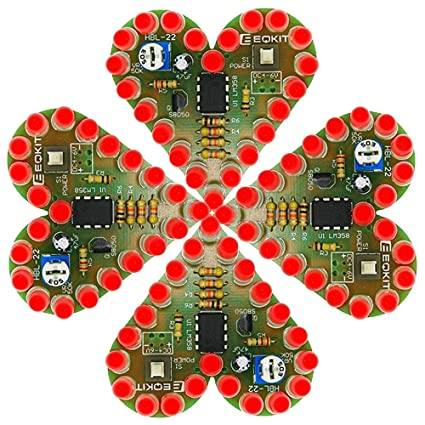 Strange Amazon Com Is Icstation Heart Shape Red Led Flashing Lights Kit Wiring 101 Capemaxxcnl