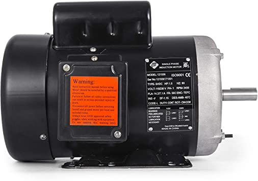 Electric Motor 3//4 HP 1 Phase 1800 RPM 5//8 inch shaft 115//230V Equipment TEFC