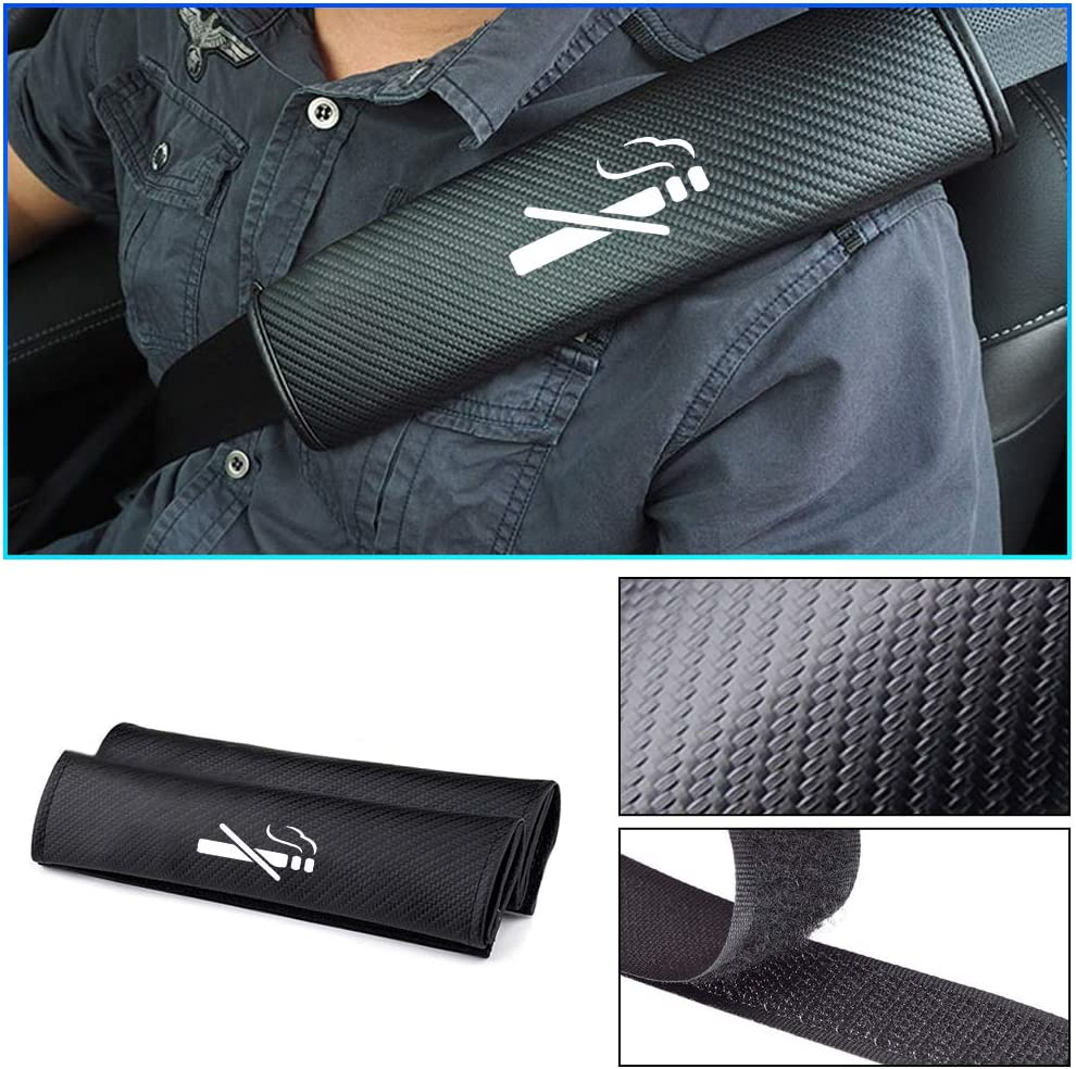 LXDD 2 Pack Breathable Car Seat Belt Shoulder Strap for Caldina TRD Sport CHR Alphard Scion Prius 86,etc Carbon Fiber Seat Belt Cover for Adults and Children Shoulder Pad Cushion 93 Color : 86