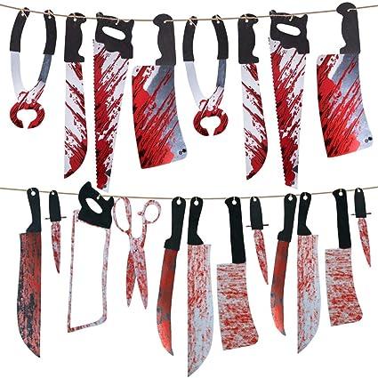 Amazon.com: Vidillo Halloween Garland Blood Props - Juego de ...