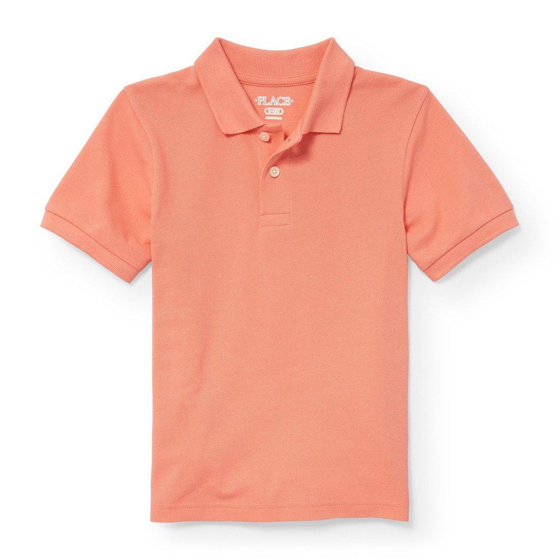 The Children's Place Big Boys' Short Sleeve Uniform Polo, Desert Flower 2428, M (7/8)