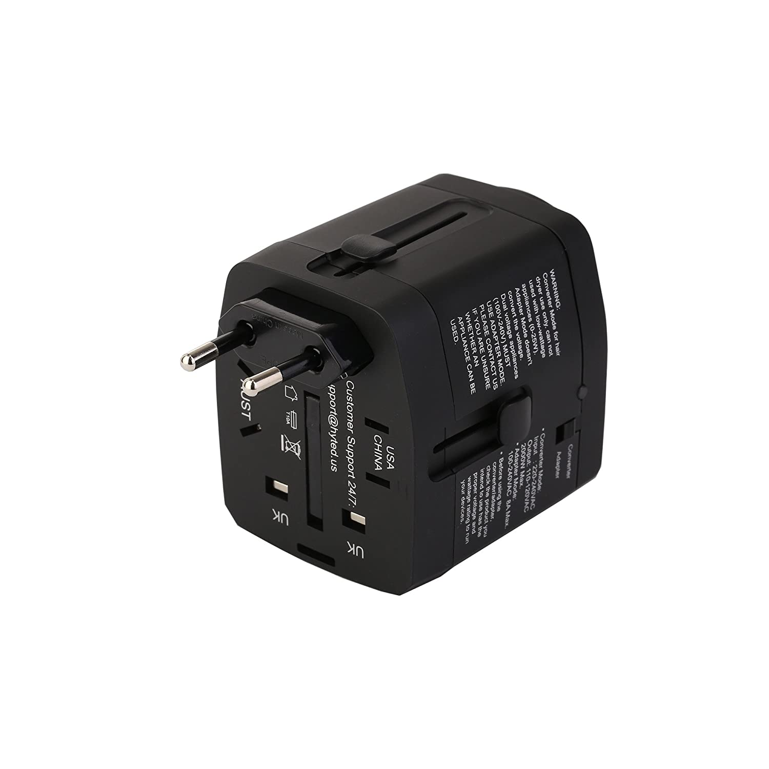 Amazon.com: HYTED 2000Watts Travel Adapter and Converter ...