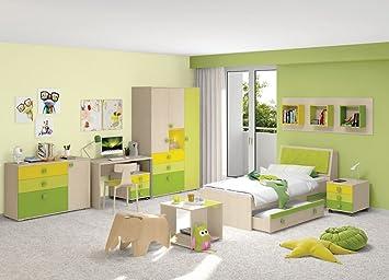 Jugendzimmer Komplett   Set B Matthias, 9 Teilig, Farbe: Creme / Grün