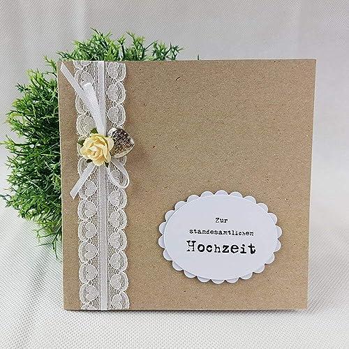 Gluckwunschkarte Standesamtliche Hochzeit Vintage Amazon De Handmade
