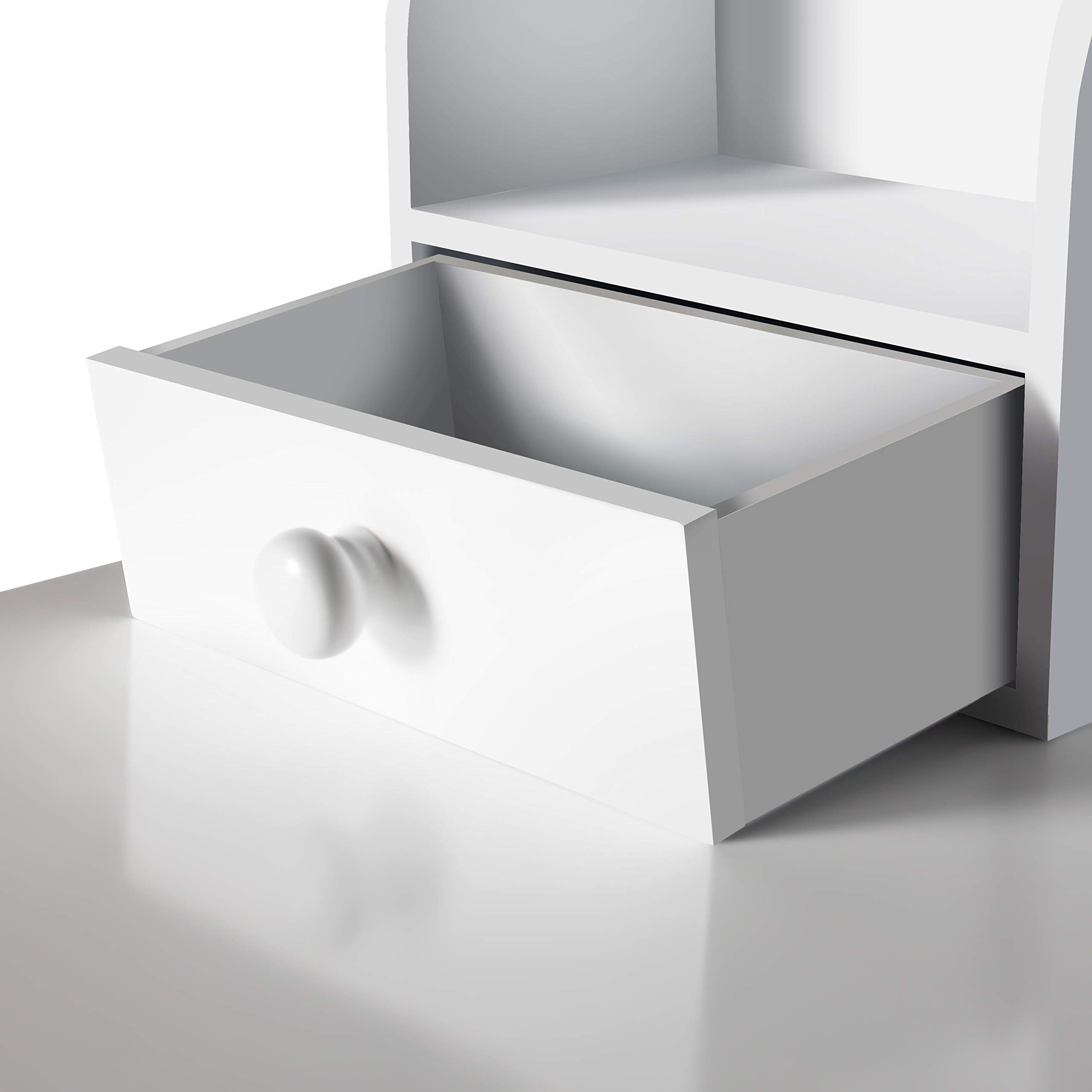 Home Office Furniture Writing Desk,Computer Work Station with Detachable Hutch,5 Drawers(White) by FUNKOCO (Image #6)