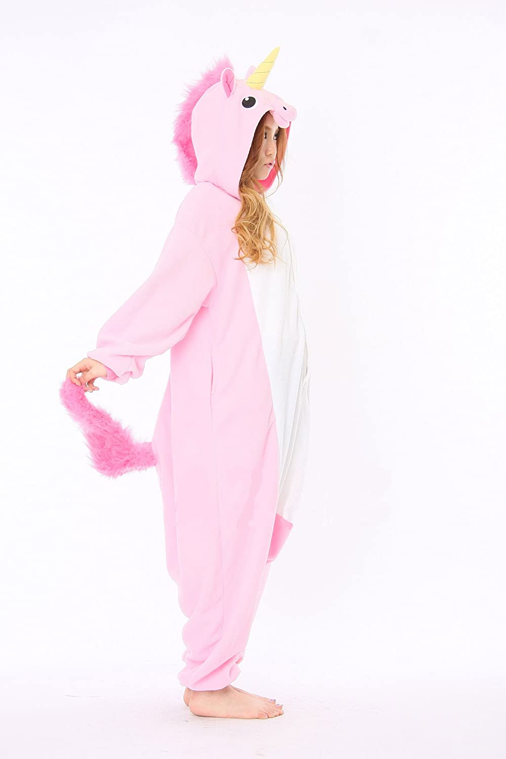 Amazon.com: Pink Unicorn Adult Animal Pyjamas / Fancy Dress Unicorn Costume Kigurumi: Toys & Games