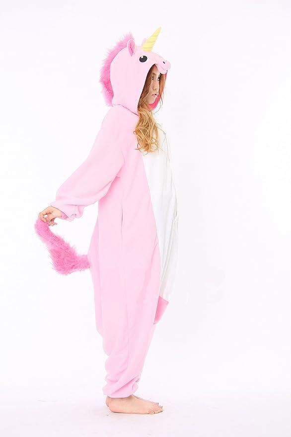 Amazon.com: Pink Unicorn Adult Animal Pyjamas / Fancy Dress Unicorn Costume Kigurumi: Toys & Games