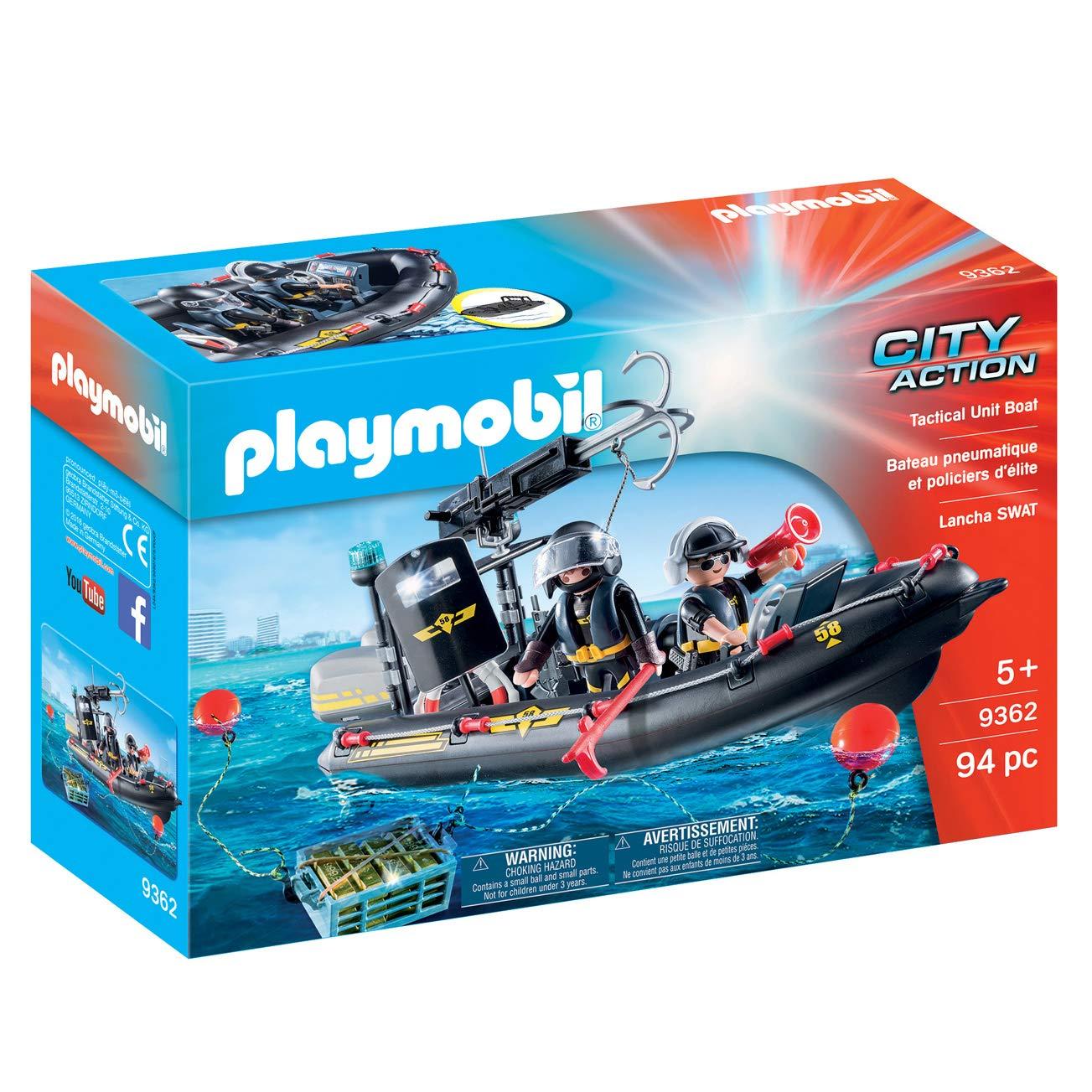 Amazon.com: Playmobil 9362 SWAT barco hinchable – nuevo 2018 ...