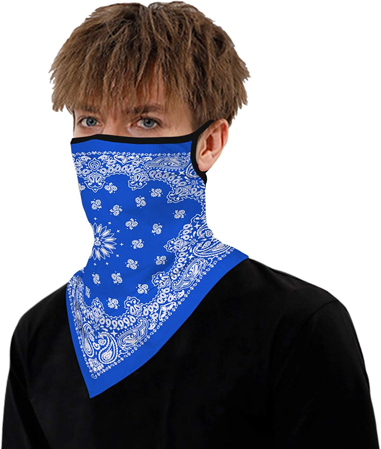 Motorcycle Face Bandana for Women Men Face Scarf #Print6 Timemory Unisex Seamless Triangle Face Rave Bandana Neck Gaiter Tube Cover