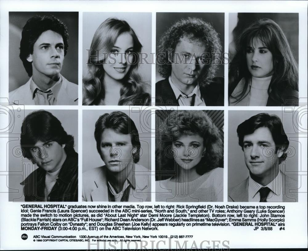 1988 Press Photo Rick Springfield Genie Francis