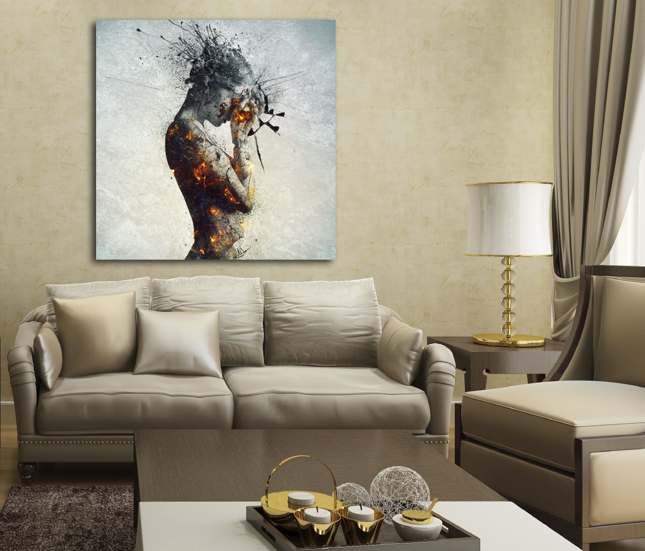 Cortesi Home ''Deliberation'' by Mario Sanchez Nevado Giclee Canvas Wall Art, 28 by 28-Inch by Cortesi Home (Image #2)