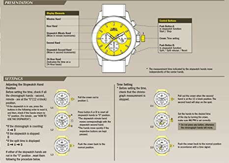 Amazon.com: Invicta Mens Aviator Quartz Watch with Stainless-Steel Strap, Two Tone, 24 (Model: 22806: Invicta: Watches