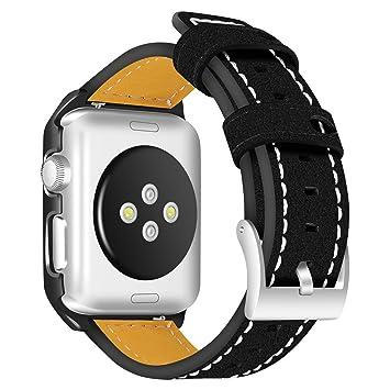 Bracelet pour montre Apple Watch 42mm, bracelets et étuis AISPORTS iWatch 42mm en cuir Etui