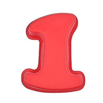 CAP DELICES 6 moul141 Molde - Número 1 Silicona Rojo 20 x 26,5 x 5,5 cm: Amazon.es: Hogar