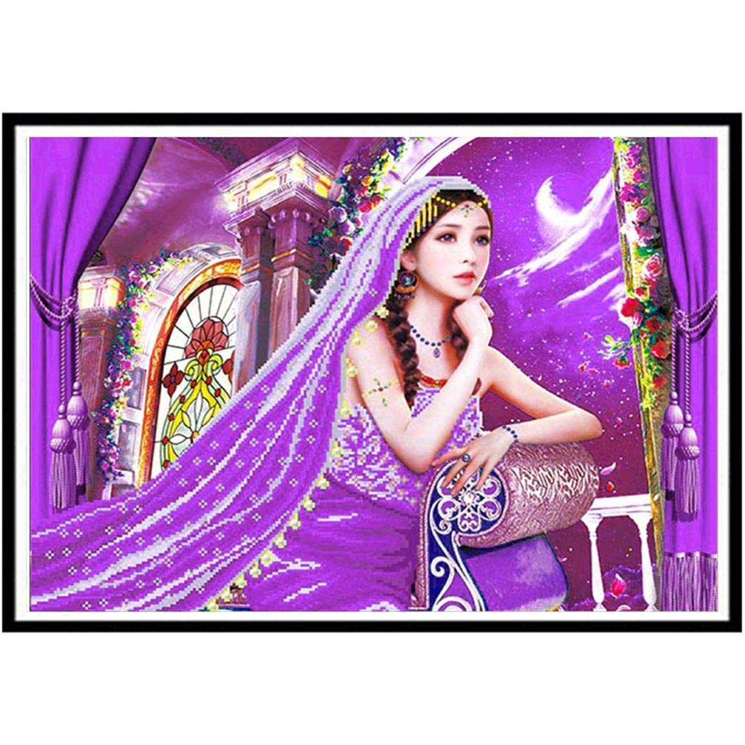 Weardear DIY 5D Full Drill Diamond Painting Kits Diamond Cross Stitch Embroidery Pictures for DIY Home Art Craft Painting Wall Sticker Decoration
